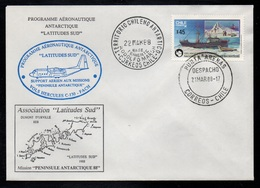 CHILI - TERRITORIO CHILENO ANTARTICO - CHILE - PUNTA ARENAS / 1988 ENVELOPPE ILLUSTREE (ref LE3298) - Briefmarken