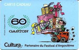 Carte Cadeau - Cultura  - Gaston Lagaffe  -  GIFT CARD /GESCHENKKARTE - Cartes Cadeaux