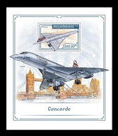 Mozambique 2018 Mih. 9433 (Bl.1326) Aviation. Supersonic Airliners Concorde MNH ** - Mozambique