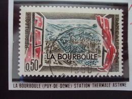 """à Partir De 1960 - Timbre Oblitéré N°  1256    """"  La Bourboule, Station Thermale     """"    0.60 - Used Stamps"""