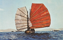 Hong Kong - Chinese Junk In The Back Ground Is Kowloon - Timbre - By Air Mail - Par Avion - Chine (Hong Kong)