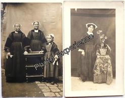 CPA Carte Photo Femme Folklore Breton Costume Robe Dress Women Bretagne France - Costumes