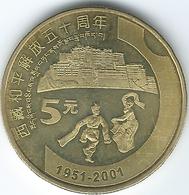 China - 5 Yuan - 2001 - Tibet - KM1363 - Cina