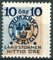 Zweden 1916 Opdruk 10+NITTIO Op 1kr PF-MNH - Neufs