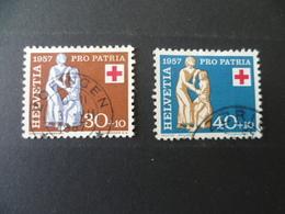 SUISSE N° 593 /594  OBLITERE   COTE 10 € - Pro Patria