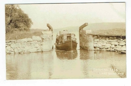 CPA USA Postcard Photo - Lake Hopatcong Entering Lock - Harris - Boat - Etats-Unis