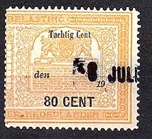 80 Cents Very Fine (NED-DE-21) - Fiscale Zegels