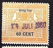 60 Cents Very Fine (NED-DE-21) - Fiscale Zegels