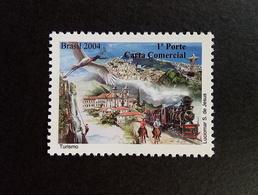 Brazil Stamp D 12 Selo Despersonalizado Turismo Trem Cavalo Igreja 2004 Tour Train Horse Church - Ungebraucht