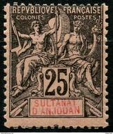 Anjouan (1892) N 8 * (charniere) - Ongebruikt