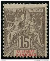 Anjouan (1900) N 15 * (charniere) - Ongebruikt