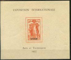 Cameroun (1937) Bloc Feuillet N 1 * (charniere) - Neufs