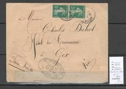 France - Lettre - Censurée 1916 Pour Gex Dans L'Ain - Guerre De 1914-18