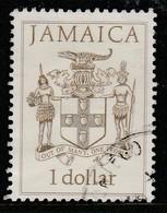 Jamaica 1987 Prime Ministers, Coat Of Arms 1 $ Multicoloured SW 680 O Used - Jamaica (1962-...)