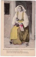 CP1052 Dalmatien Costume Ca 1910 Jeune Fille De PAGO Faisant De La Dentelle - Costumes