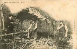 080319 - 24 SARLAT J Guiraud 1909 - TYPES DE CHEZ NOUS Hutte De Feuillardiers - Artisanat - Sarlat La Caneda