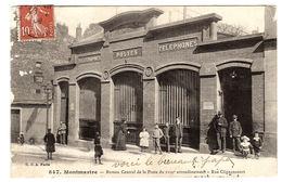 PARIS XVIIIème (75) - Montmartre - Bureau Central De La Poste Du XVIIIème Arrondissement - Rue Clignancourt - Arrondissement: 18