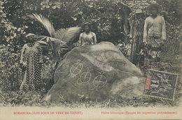 Borabora Iles Sous Le Vent De Tahiti Pierre Historique Polynésie Timbrée Non Voyagé - Polynésie Française