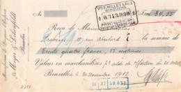 13   -0237   1912   MEYER & LILIENFELDT A BRUXELLES - MAISON NICOLAS A PROVINS-13   0237 - Lettres De Change