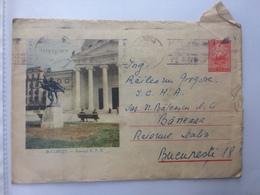 58 STATUE BUILDINGS ATENEUL BUCHAREST ROMANIA STATIONARY COVER 1961 - 1948-.... Républiques