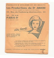 Publicité Produits D'hygiène Et De Beauté Du Dr Arion - Publicités