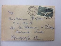 62 FISH SCRUMBII ALOSA PONTICA STAMP ON COVER ROMANIA ORSOVA 1961 - 1948-.... Républiques