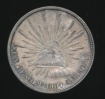 SILVER PESO 1901 A  - 2 SCANS - BEAUTIFUL CONDITION - Mexico