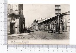 Concepcion Calle Comercio Chile  1920 Cile Animata Animada Personajes Caballos - Cile