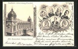 AK Elberfeld, Stadthalle Johannisberg, Komponisten, Liszt, Brahms, Wagner, Etc. - Duitsland