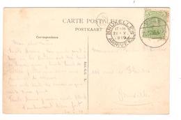 PR6372/ TP 137 S/CP Visé Pont D'Argenteau C.Fortune Càp Visé 21/5/19 V.BXL C.d'arrivée BXL Arrivée 21/5/19 - Fortune Cancels (1919)