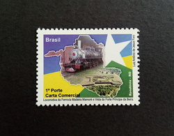Brazil Stamp D 114 Selo Despersonalizado Trem Forte Rondonia 2009 Train Map Flag - Ungebraucht