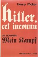 Hitleer, Cet Inconnu, H. Picker (réf. 158L) - Oorlog 1939-45
