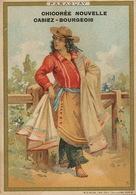Paraguay Femme Gaucho   Advert Chicorée Casiez Bourgeois Cambrai Chromo 7 By 10,5 Cms - Paraguay