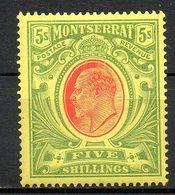 MONTSERRAT - (Colonie Britannique) - 1914 - N° 42 - 5 S. Vert Et Rouge S. Jaune - (George V) - Montserrat