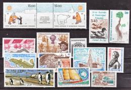 TAAF 1992 Année Complète Poste Et PA  Neuf ** MNH Sin Charmela Valeur Faciale 23.73 - Terres Australes Et Antarctiques Françaises (TAAF)