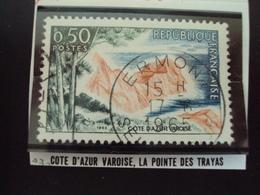 """à Partir De 1960 - Timbre Oblitéré N°  1391    """"  Cote D'azur, Pointe Des Trayas     """"   0.15 - Oblitérés"""