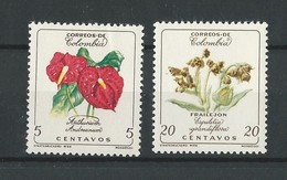 Colombie: 579/ 580 **  Fleurs - Colombie