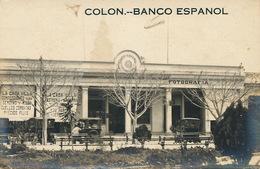 Real Photo Colon Banco Espanol  Fotografia - Cuba