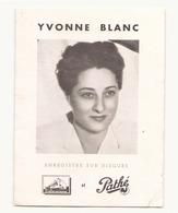 """Publicité """" Les Disques De Pathé """" Yvonne Blanc - Musique & Instruments"""