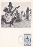 MAURITANIE  :  Carte IONYL  .  Danse Des Fusils  . Série AOF  .  Oblitération Dakar - Mauritanie
