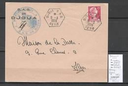 Algerie - Devant De Lettre  - Cachet Hexagonal DJOUA SAS -  Marcophilie - Algérie (1924-1962)