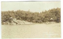 CPA USA Postcard Photo - Lake Hopatcong Indian Island - Harris Pittston & Arlington - Etats-Unis