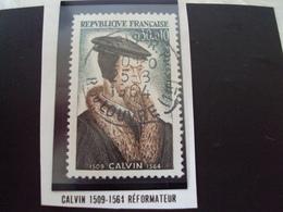 """à Partir De 1960 - Timbre Oblitéré N° 1420     """"  Calvin     """"   0.50 - Used Stamps"""