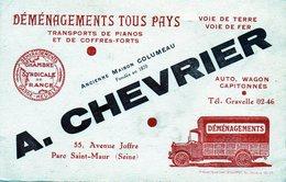 Chevrier - Seine Déménagements Tous Pays Transport De Piano Et Coffre Fort - Publicidad