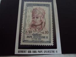 """à Partir De 1960 - Timbre Oblitéré N°1421      """"   Pape Sylvestre II    """"     0.40 - Francia"""