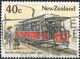 NEW ZEALAND 1985 Vintage Trams - 40c - Auckland Electric Tram, 1902 AVU - Nuova Zelanda