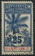 Mauritanie (1906) N 7 (o) (Manque Une Dent Et Plie Dans Le Coin Superieur Droit) - Oblitérés