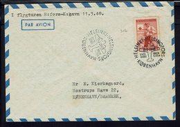 Finlande - Enveloppe Vol Helsinki Kobenhavn - Timbre Croix Rouge N° 307 - Cachets 11-3-1948 - B/TB - - Airmail