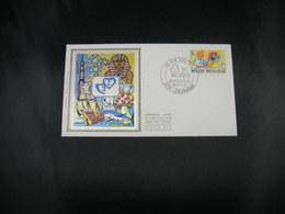 "BELG.1979 1944 FDC Soie/zijde ,Zwijnaarde : ""Jeugdfilatelie/Philatelie De La Jeunesse "" ""Kuifje/Tintin - Hergé - FDC"