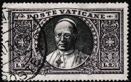 Pape Pie XI (YT N° 56) Obl De 1934 Qqs Dents Légèrement Rognées - Usati